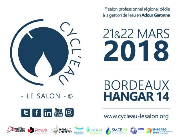 Inscrivez-vous gratuitement pour visiter le salon Cycl'Eau Bordeaux 2018
