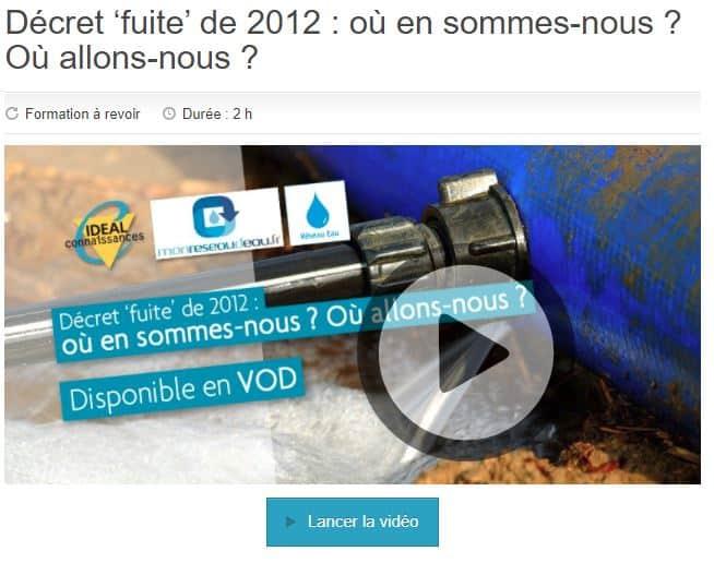 Webconférence Décret 'fuite' de 2012