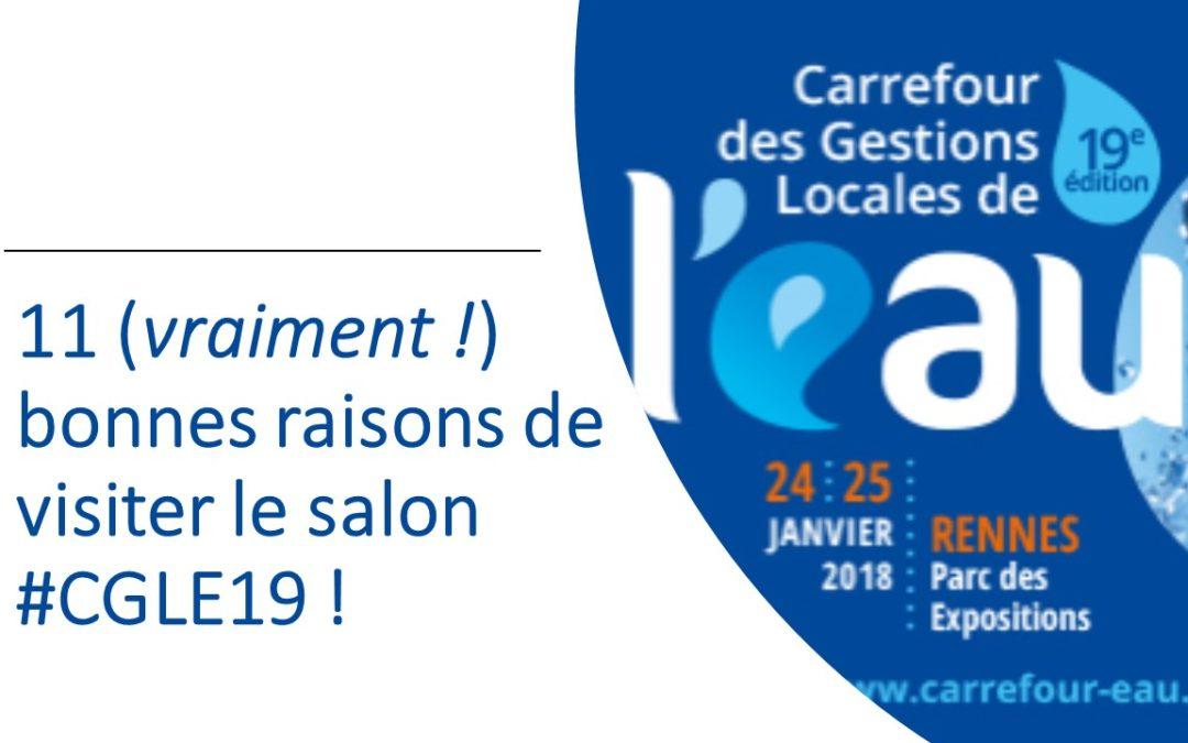 11 (vraiment !) bonnes raisons de visiter le Carrefour de l'Eau 2018 (#CGLE19) !