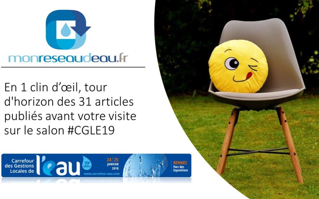 En 1 clin d'œil, tour d'horizon des 31 articles publiés avant votre visite sur le salon #CGLE19