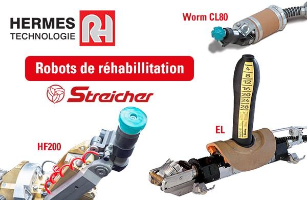 HERMES Technologie expose sa gamme de robots de réhabilitation Streicher au #CGLE9
