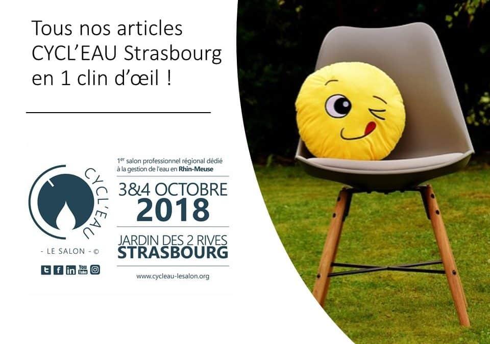 Cycl'Eau Strasbourg : tous nos articles en 1 clin d'oeil !