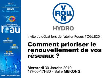 vonRoll hydro invite au débat sur le renouvellement des réseaux au #CGLE20