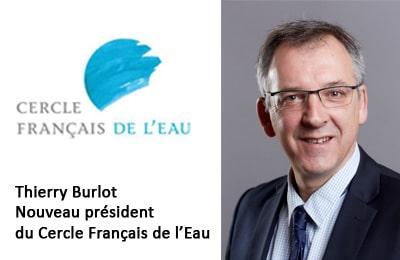 Thierry Burlot vient d'être nommé président du Cercle Français de l'Eau