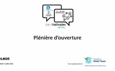 La vidéo replay de la plénière d'ouverture #LMDE du 7 juillet 2020