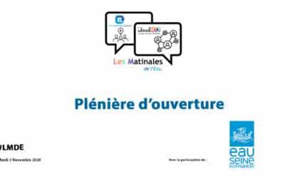 La vidéo replay de la plénière d'ouverture #LMDE du 3 Novembre 2020