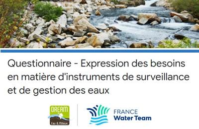 Vos besoins en matière d'instruments de surveillance et de gestion des eaux
