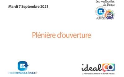 La vidéo replay de la Plénière d'Ouverture #LMDE du 7 Septembre 2021