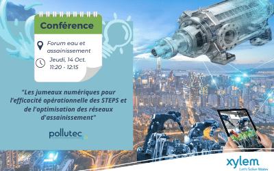 Pollutec : Conférence sur le jumeau numérique Xylem Smart